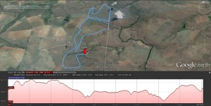 22km biking trail - google earth