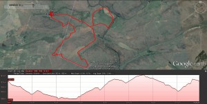 Ezemvelo Biking Trail - 20km - Google Earth